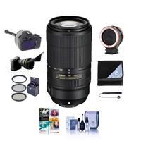 Image of Nikon AF-P NIKKOR 70-300mm f/4.5-5.6E ED VR Lens - USA Warranty - Bundle With 67mm Filter Kit, FocusShifter DSLR Follow Focus & Rack Focus, Peak Lens Changing Kit Adapter, Flex Lens Shade, More