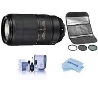 Image of Nikon AF-P NIKKOR 70-300mm f/4.5-5.6E ED VR Lens - USA Warranty - With HOYA 67MM Digital Filter Kit II (UV/CPL/ND8x), Cleaning Kit, Microfiber Cloth,