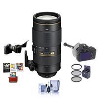 Compare Prices Of  Nikon 80-400mm f/4.5-5.6G AF-S VR NIKKOR ED Lens - USA Warranty - Bundle w/77mm Filter Kit, FocusShifter DSLR Follow Focus & Rack Focus, Flex Lens Shade, Cleaning Kit, Mac Software Package