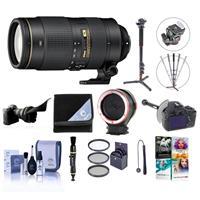 Image of Nikon 80-400mm f/4.5-5.6G AF-S VR NIKKOR ED Lens USA - Bundle w/77mm Filter Kit, FocusShifter DSLR Follow Focus, Flex Lens Shade, 4 Section Aluminum Monopod, Peak Lens Changing Kit Adapter, And More