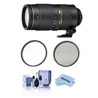 Image of Nikon 80-400mm f/4.5-5.6G AF-S VR NIKKOR ED Lens USA Warranty - Bundle Haida 77mm NanoPro MC Circular Polarizer Filter, Haida 77mm NanoPro MC Clear Filter, Cleaning Kit, Microfiber Cloth