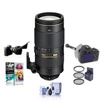 Image of Nikon 80-400mm f/4.5-5.6G AF-S VR NIKKOR ED Lens - USA Warranty - Bundle w/77mm Filter Kit, FocusShifter DSLR Follow Focus & Rack Focus, Flex Lens Shade, Cleaning Kit, PC Software Package
