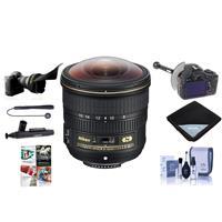Image of Nikon 8-15mm f/3.5-4.5E EDIF AF-S Fisheye NIKKOR Lens USA - Bundle With FocusShifter DSLR Follow Focus, Flex Lens Shade, Lens Wrap, Cleaning Kit, Capleash II, Software Package, Cleaner