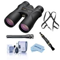 Image of Nikon 8x42 Prostaff 7S Roof Prism Binocular, 6.8 Degree Angle of View, Black, Bundle with Accessory Kit