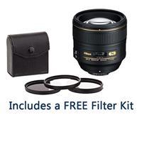 Image of Nikon 85mm f/1.4G IF AF-S NIKKOR Lens U.S.A. Warranty - Bundle with 77mm Filter Kit (UV/CPL/ND2), New Leaf 1 Year Drops & Spills Warranty