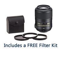 Image of Nikon 85mm f/3.5G AF-S DX Micro NIKKOR ED (VR-II) Lens - U.S.A. Warranty - U.S.A. Warranty - Bundle with 52mm Digital Essentials Filter Kit (UV/CPL/ND2), New Leaf 1 Year Drops & Spills Warranty