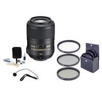 Image of Nikon 85mm f/3.5G AF-S DX Micro NIKKOR ED (VR-II) Lens - U.S.A. Warranty NIKKOR Lens - Accessory Bundle with 52mm Photo Essentials Filter Kit, Lens Cap Leash, Professional Lens Cleaning Kit