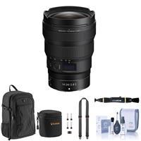 Image of Nikon NIKKOR Z 14-24mm f/2.8 S Lens for Z Series Mirrorless Cameras - Bundle with Peak Design SlideLITE Strap, Backpack, Lens Cleaner, Lens Case, Cleaning Kit