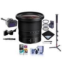 Image of Nikon NIKKOR Z 14-30mm f/4 S Ultra-Wide Zoom Lens - Bundle With 82mm Filter Kit, Flex Lens Shade, FocusShifter DSLR Follow Focus & Rack Focus, Monopod with Fluid Base, Software Pack, And More