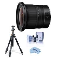 Image of Nikon NIKKOR Z 14-30mm f/4 S Ultra-Wide Zoom Lens - Bundle With Vanguard 264AB-100 4-section Aluminum Tripod with SBH-100 QR BallHead Black, Cleaning Kit, MicroFiber Cloth