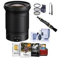 Image of Nikon NIKKOR Z 20mm f/1.8 S Lens, Bundle with Free Accessories & Mac Software Suite