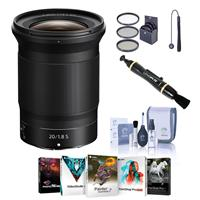 Image of Nikon NIKKOR Z 20mm f/1.8 S Lens, Bundle with Free Accessories & PC Software Suite