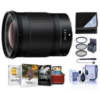 Image of Nikon NIKKOR Z 24mm f/1.8 S Lens for Z Series Mirrorless Cameras - Bundle With 72mm Filter Kit, Lens Wrap, Capleash, Cleaning Kit, Mac Software Package