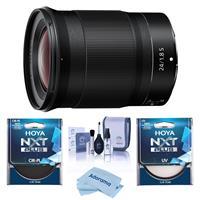 Image of Nikon NIKKOR Z 24mm f/1.8 S Lens for Z Series Mirrorless Cameras - Bundle With Hoya NXT Plus 72mm 10-Layer HMC UV Filter, HOYA 72mm NXT Circular Polarizer Filter, Cleaning Kit, Microfiber Cloth