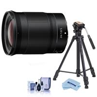 Image of Nikon NIKKOR Z 24mm f/1.8 S Lens for Z Series Mirrorless Cameras - With Slik Sprint Pro III BH Travel Tripod with SBH-100 DQ All Metal Ball Head, Black, Cleaning Kit, Microfiber Cloth