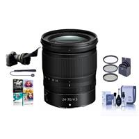 Image of Nikon NIKKOR Z 24-70mm f/4 S Lens for Z Series Mirrorless Cameras - Bundle With 72mm Filter Kit, Flex Lens Shade, Cleaning Kit, Capleash, Pc Software Package