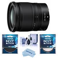 Image of Nikon NIKKOR Z 24-70mm f/4 S Lens for Z Series Mirrorless Cameras - Bundle With Hoya NXT Plus 72mm 10-Layer HMC UV Filter, HOYA 72mm NXT Circular Polarizer Filter, Cleaning Kit, Microfiber Cloth