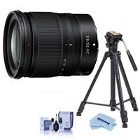 Image of Nikon NIKKOR Z 24-70mm f/4 S Lens for Z Series Mirrorless Cameras - With Slik Sprint Pro III BH Travel Tripod with SBH-100 DQ All Metal Ball Head, Black, Cleaning Kit, Microfiber Cloth