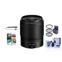 Image of Nikon NIKKOR Z 35mm f/1.8 S Lens for Z Series Mirrorless Cameras - Bundle With 62mm Filter Kit, Cleaning Kit, Capleash II, Pc Software Package
