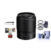 Image of Nikon NIKKOR Z 35mm f/1.8 S Lens for Z Series Mirrorless Cameras - Bundle With 62mm Filter Kit, Cleaning Kit, Capleash II, Mac Software Package