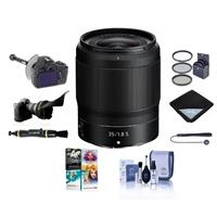 Image of Nikon NIKKOR Z 35mm f/1.8 S Lens for Z Series Mirrorless Cameras - Bundle With 62mm Filter Kit, FocusShifter DSLR Follow Focus, Flex Lens Shade, Lens Wrap, Cleaning Kit, Software Package And More