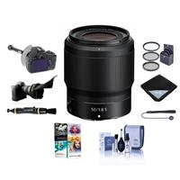 Image of Nikon NIKKOR Z 50mm f/1.8 S Lens for Z Series Mirrorless Cameras = Bundle With 62mm Filter Kit, FocusShifter DSLR Follow Focus, Flex Lens Shade, Cleaning Kit, Capleash, Pc Software Package And More
