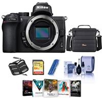 Image of Nikon Z50 Mirrorless Camera Body - Bundle With Camera Case, 64GB SDXC Memory Card, Cleaning kit, Memory Wallet, Card Reader, PC Software Package