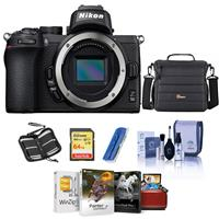 Image of Nikon Z50 Mirrorless Camera Body - Bundle With Camera Case, 64GB SDXC Memory Card, Cleaning kit, Memory Wallet, Card Reader, Mac Software Package