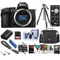 Image of Nikon Z50 Mirrorless Camera Body - Bundle With Camera Case, 64GB SDXCU3 Card, Nikon ML-L7 Bluetooth Remote Control, Tripod, Nikon EN-EL25 Battery, Peak Camera Cuff Wrist Strap, Software Pack, More