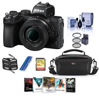 Image of Nikon Z50 Mirrorless Camera with NIKKOR Z DX 16-50mm f/3.5-6.3 VR Lens - Bundle With Camera Case, 64GB SDXC Memory Card, 46mm Filter Kit, Cleaning Kit, memory Wallet, Card Reader, PC Software Package