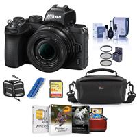 Image of Nikon Z50 Mirrorless Camera with NIKKOR Z DX 16-50mm f/3.5-6.3 VR Lens - Bundle With Camera Case, 64GB SDXC Memory Card, 46mm Filter Kit, Cleaning Kit, memory Wallet, Card Reader, Mac Software Package