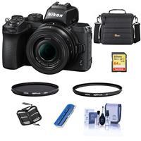 Compare Prices Of  Nikon Z50 Mirrorless Camera with NIKKOR Z DX 16-50mm f/3.5-6.3 VR Lens - Bundle With 64GB SHXC Memory Card - Camera Bag - Hoya 46mm HMC UV Filter - Hoya 46mm HMC Circular Polarizer Filter - And More