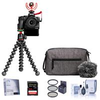 Nikon Z 50 Creator's Kit with Z 50 DX-Format Mirrorless Camera and NIKKOR Z DX 16-50mm f/3.5-6.3 VR Lens - Essential Kit, With 64GB SDXC Card, Screen Protector, 46mm Filter Kit, Cleaning Kit,