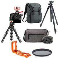 Compare Prices Of  Nikon Creator's Kit with Z 50 DX-Format Mirrorless Camera and Z DX 16-50mm f/3.5-6.3 V R Lens - Bundle With Slik Pro AL-323 BH4 Tripod Camera, Zayla Dedicated L-Bracket, K&F Concept Backpack, More