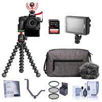 Nikon Z 50 Creator's Kit with Z 50 DX-Format Mirrorless Camera and Z DX 16-50mm f/3.5-6.3 VR Lens - Bundle With 64GB SDXC Card, Bi-Color On Camera LED Light, 46mm Filter Kit, Screen Protector, More