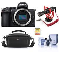 Compare Prices Of  Nikon Z50 Mirrorless Camera Body - Bundle With Camera Case, 64GB SDXC Memory Card, RODE VideoMicro Compact On-Camera Microphone, Cleaning Kit