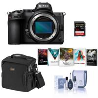 Image of Nikon Z5 Full Frame Mirrorless Camera Body - Bundle with 32GB SD Card, Shoulder Bag, Corel PC Software Suite, Cleaning Kit