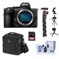 Compare Prices Of  Nikon Z5 Full Frame Mirrorless Camera Body Basic Bundle with 32GB SD Card, Shoulder Bag, Flexible Tripod, Cleaning Kit