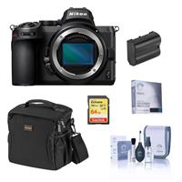 Image of Nikon Z5 Full Frame Mirrorless Camera Body Essential Bundle with 64GB SD Card, Bag, Extra Battery, Screen Protector, Cleaning Kit