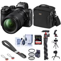 Image of Nikon Z5 Full Frame Mirrorless Camera with 24-200mm Zoom Lens Basic Bundle with 64GB SD Card, Bag, Flexible Tripod, Wrist Strap and Accessories