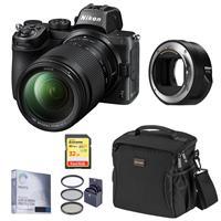 Image of Nikon Z5 Full Frame Mirrorless Digital Camera with NIKKOR Z 24-200mm f/4-6.3 Zoom Lens - Bundle with Nikon FTZ Mount Adapter, 32GB SD Card, Bag, Screen Protector, Filter Kit