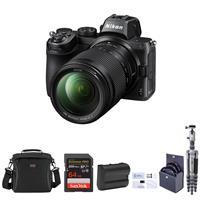 Image of Nikon Z5 Full Frame Camera with NIKKOR Z 24-200mm f/4-6.3 VR Zoom Lens, Bundle with Vanguard VEO 2 Aluminum Tripod