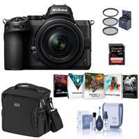 Image of Nikon Z5 Full Frame Mirrorless Camera with 24-50mm Zoom Lens Bundle with 32GB SDHC Card, Slinger Shoulder Bag, PC Software Package, 52mm Filter Kit, Cleaning Kit