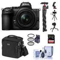 Image of Nikon Z5 Full Frame Mirrorless Camera with 24-50mm Zoom Lens Basic Bundle with 32GB SD Card, Bag, Flexible Tripod and Accessories