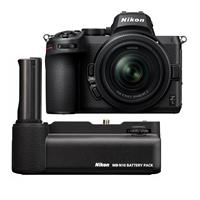 Image of Nikon Z5 Full Frame Mirrorless Camera with NIKKOR Z 24-50mm f/4-6.3 Zoom Lens with Nikon MB-N10 Multi Battery Power Pack