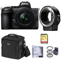 Image of Nikon Z5 Full Frame Mirrorless Digital Camera with NIKKOR Z 24-50mm f/4-6.3 Zoom Lens - Bundle with Nikon FTZ Mount Adapter, 32GB SD Card, Bag, Screen Protector, Filter Kit