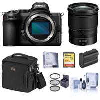 Compare Prices Of  Nikon Z5 Full Frame Mirrorless Camera with NIKKOR Z 24-70mm f/4 S Lens - Bundle with Bag, 64GB SD Card, Filter Kit, Extra Battery, Screen Protector, Cleaning Kit