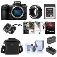 Image of Nikon Z6 FX-Format Mirrorless Camera Body - Bundle With Camera Case, Spare Battery, Compact Charger, Cleaning Kit, Memory Wallet, Pc Software Package