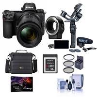 Nikon Z 6 24.5MP FX-Format Mirrorless Camera Filmmaker's Kit With Free Accessory Bundle