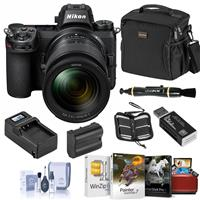 Image of Nikon Z6 FX-Format Mirrorless Digital Camera with NIKKOR Z 24-70mm f/4 S Lens - Bundle with Extra Battery, Smart Charger, Bag, Corel Mac Software Suite, Cleaning Kit and Accessories